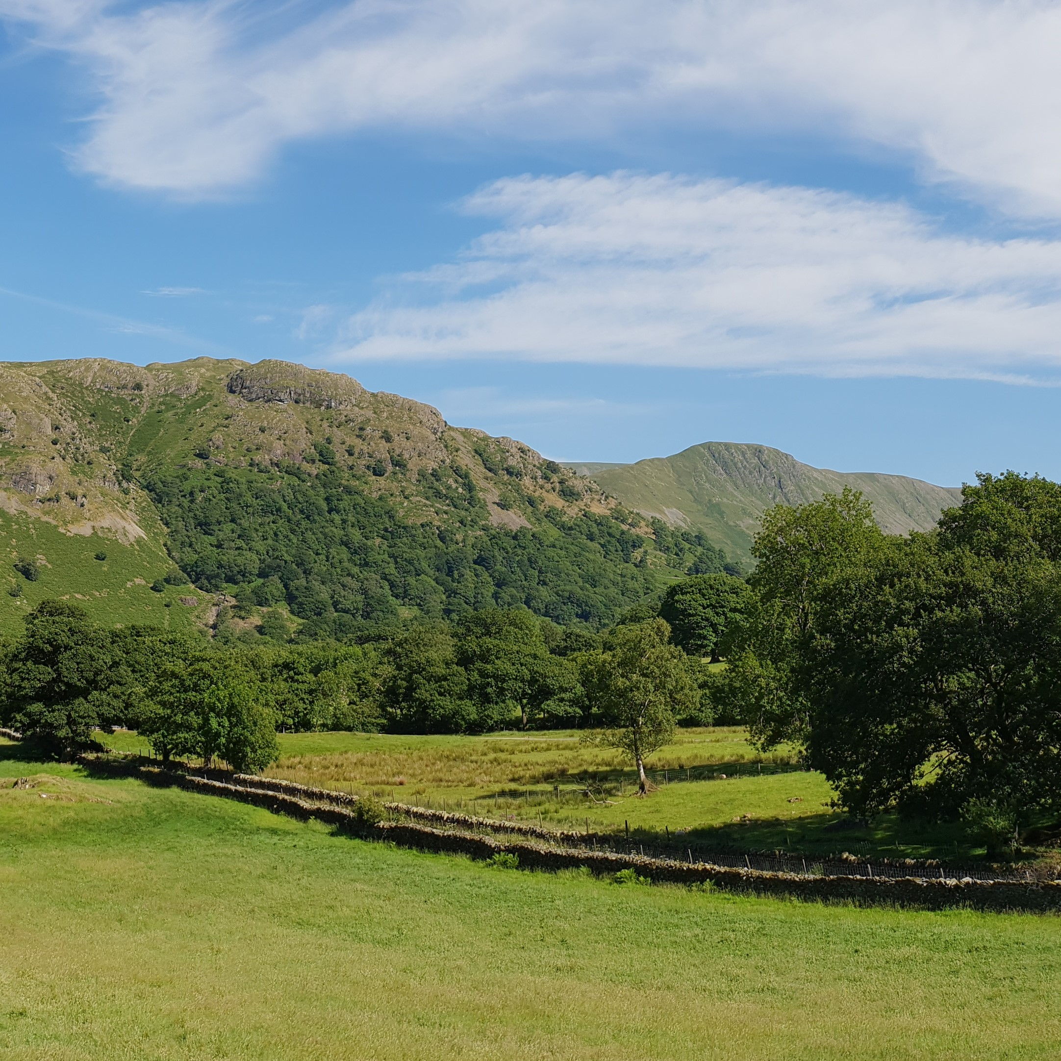 View of Grey Crag from Stone Cottage